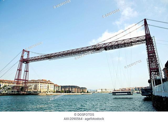 Puente De Vizcaya, First Shuttle Bridge, Between Portugalete And Getxo, Basque Country, Spain