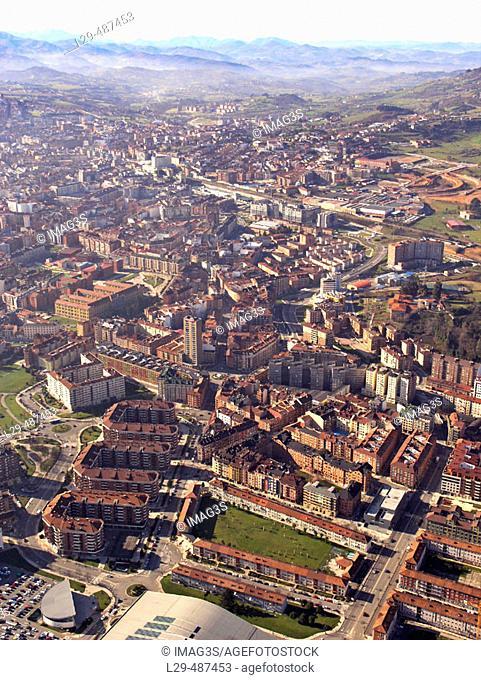 West part of Oviedo. Prados and Teatinos neighbourhoods. Oviedo. Asturias. Spain