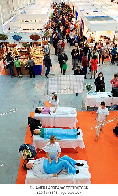 Demonstration of alternative therapies, Bioterra, fair of organic products, green building, renewable energy and responsible consumption, Ficoba, Irun, Gipuzkoa