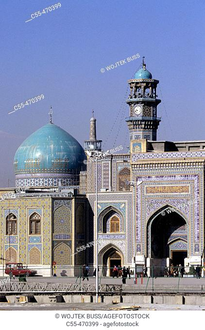 Holy perimeter of Imam Reza mausoleum. Haram-E-Motahhar. Mashhad. Iran