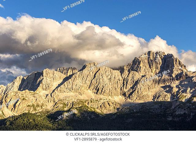 Mount Sorapiss and Group of Ciadin del Loudo,Cortina d'Ampezzo,Belluno district,Veneto,Italy,Europe