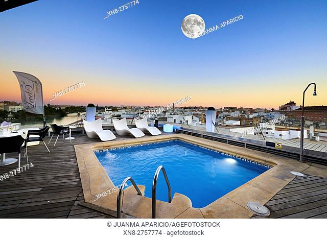 Pool of Rivera de Triana Hotel, Sevilla, Spain, Europe