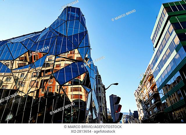 Modern architecture of the Department of Health, Bilbao, Basque country, Spain