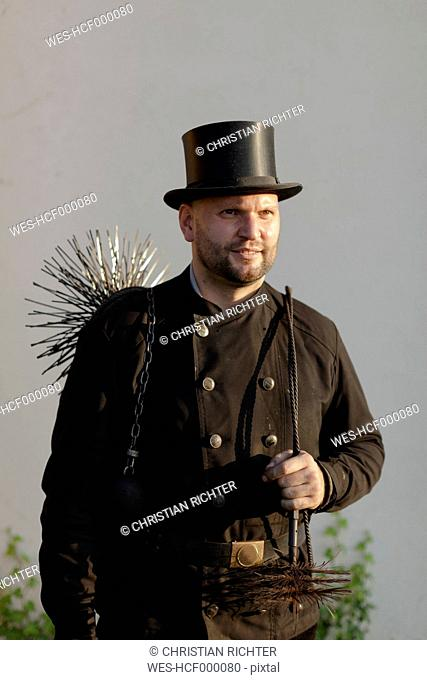 Germany, portrait of chimney sweep