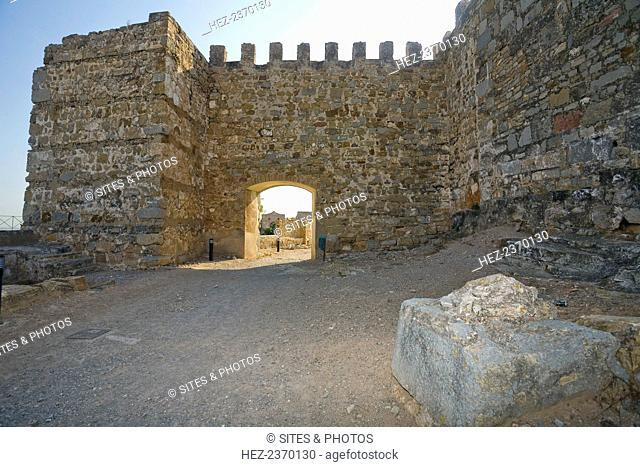 Citadel of Sagunto, Spain, 2007. The first fortifications on the hill above the town of Sagunto, north of Valencia, were built in the 5th century BC by the...
