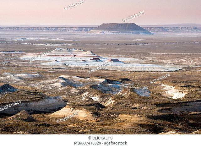 View on the desert of Caspian Depression, Aktau, Mangystau region, Kazakhstan