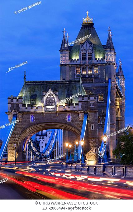 Tower Bridge London England at twilight
