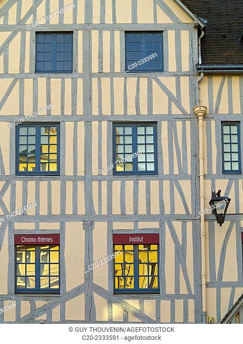 Half timbered facade house, Rouen, Normandy, France