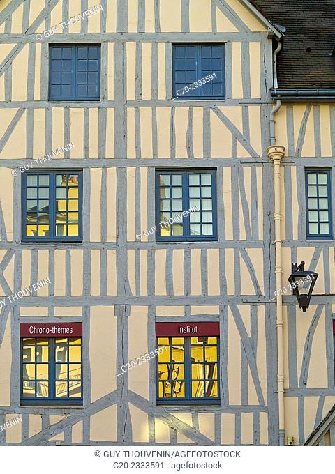 Half timbered facade house, Rouen, Normandy, France
