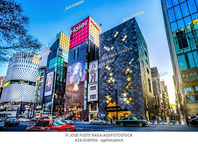 Japan, Tokyo City, Ginza District, Harumi Avenue