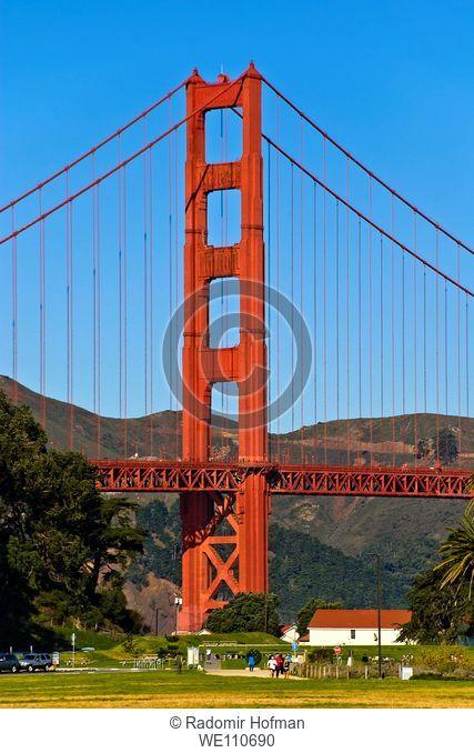Golden Gate Bridge from Crissy Field, San Francisco, California, USA