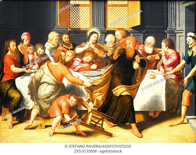 Last Supper (1548) by Pieter Pourbus (1523/24 - 1584)