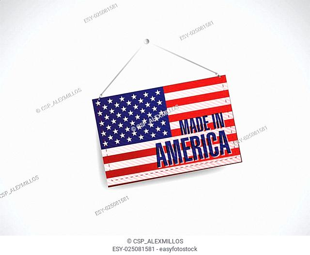 made in america fabric textured banner hanging