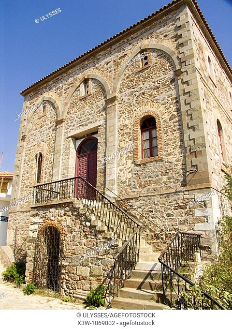 historical building, sigri, lesbos island, north west aegean, greece, europe