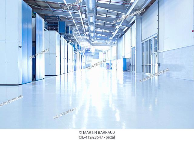 Sunny factory corridor