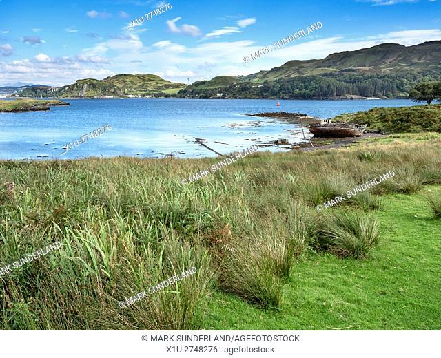 Little Horseshoe Bay on the Isle of Kerrera Argyll and Bute Scotland