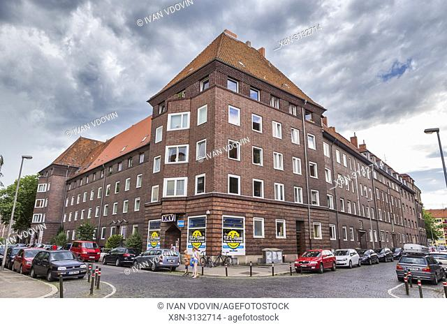 Vintage building, 1920s, Hanover, Lower Saxony, Germany