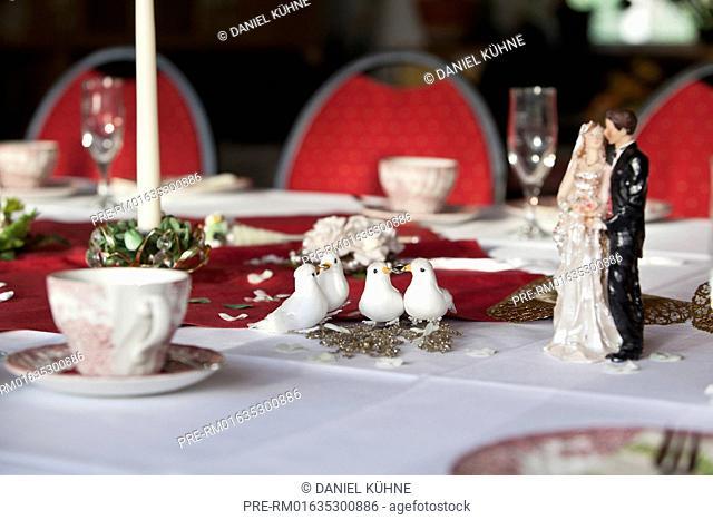 Decorated Wedding table / Hochzeitstafel