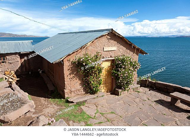House of community leader Felix Turpo Coila, who hosts rural home-stay accommodation in the small community of Llachon, on the Capachica Peninsula, near Puno