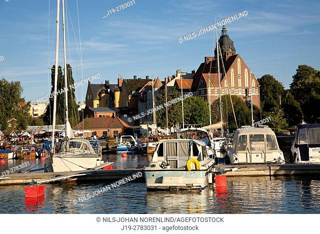 Boats at port Strängnäs, Sweden