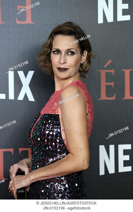 Actress LOLA MARCELL attends 'Elite' premiere at Reina Sofia Museum. Premiere of the Élite series, which premieres Netflix -it is its second Spanish original...