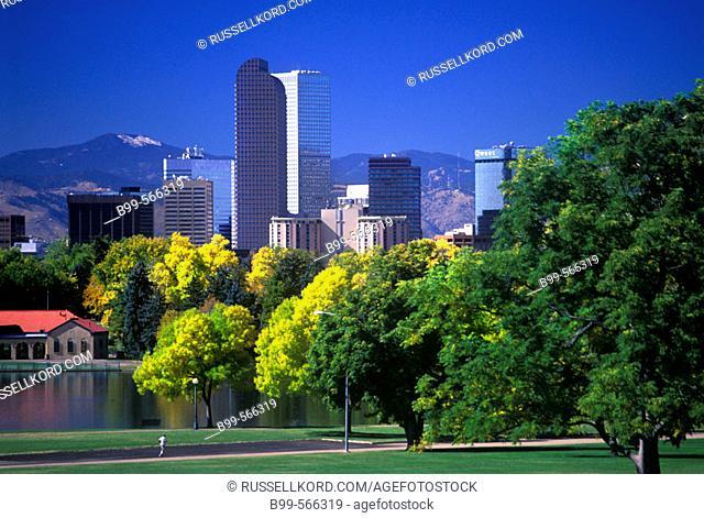 Fall Foliage, City Park, Downtown Skyline, Denver, Colorado, Usa