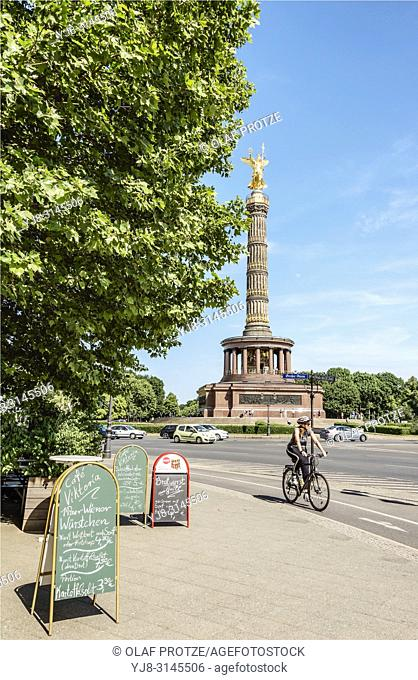 Berlin Victory Column at Tiergarten Park, Germany