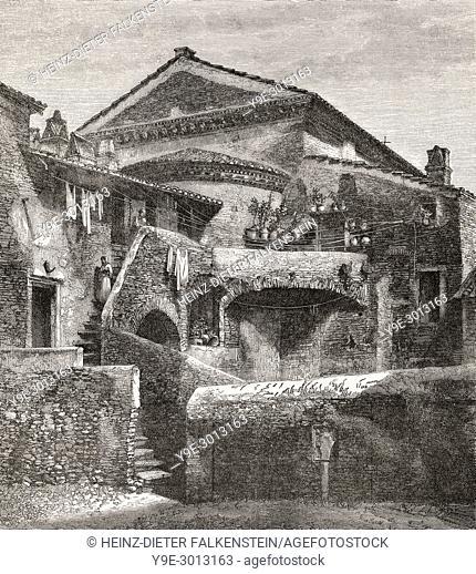 Behind San Crispino, Rome, Italy, 19th Century