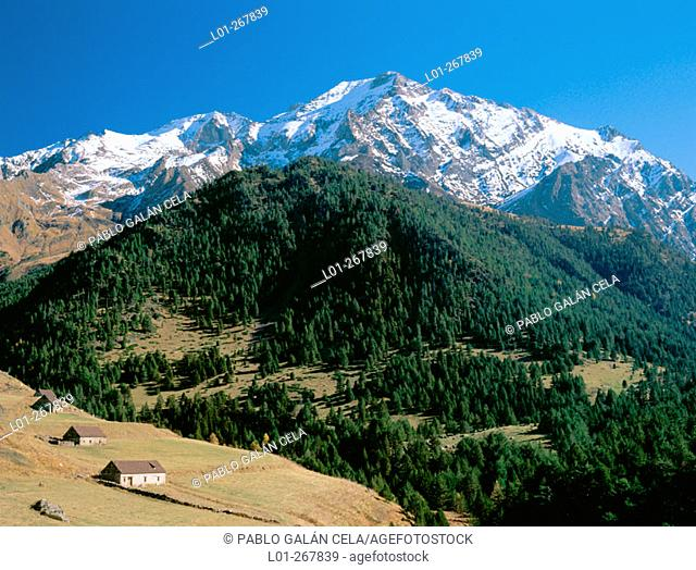Gistain Valley in the Pyrenees Mountains. Huesca province. Aragon. Spain