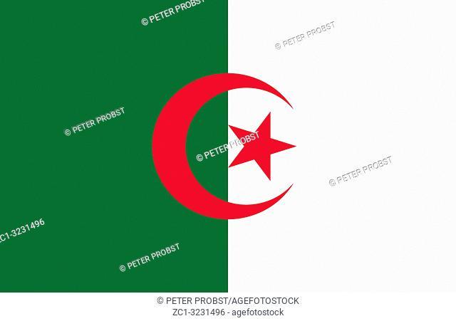 National flag of the People's Democratic Republic of Algeria