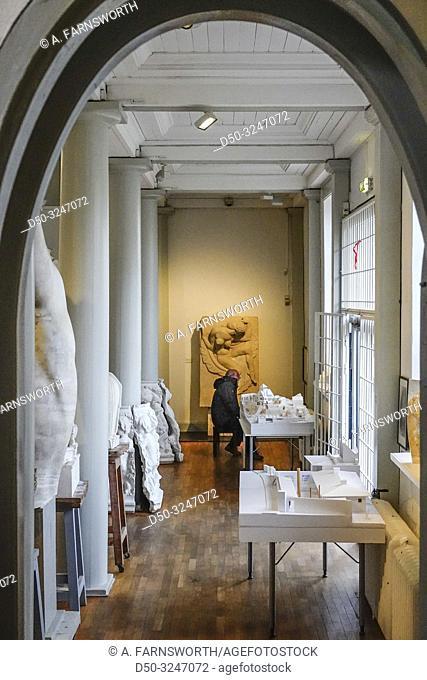 Stockholm, Sweden Visitors inside the artist residence and atelier at the Millesgården museum om Lidingö
