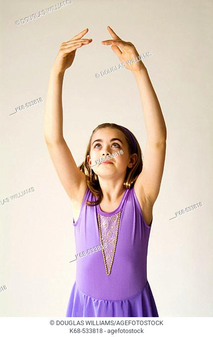 ballet dancer, 10 years old, fifth position