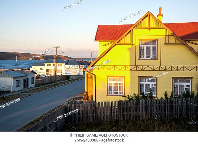 Corrugated iron architecture of Porvenir, Tierra del Fuego, Chile