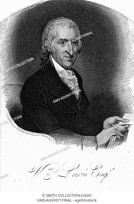 An engraving from a portrait of William Lewis, he was a lawyer and eventually became a judge, during the American Revolution he defended Quakers against charges...