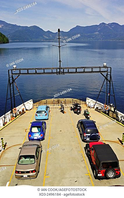 BC Ferry Island Sky in Jervis Inlet, British Columbia, Canada