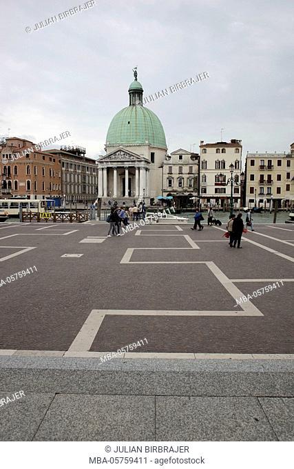 Europe, Veneto, Venetia, Venice, church, San Simeone Piccolo, Santi Simeone e Giuda, Canal Grande