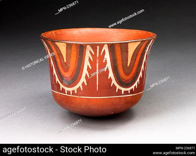 Cup with Concentric U-Shaped Motif - 180 B.C./A.D. 500 - Nazca South coast, Peru - Artist: Nazca, Origin: Nazca Valley, Date: 180 BC-500 AD