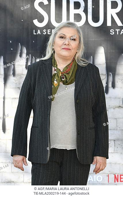 Paola Sotgiu during photocall of the second season of Italian fiction 'Suburra', Rome 20-02-2019