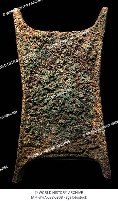 Copper ox-hide ingot from Ancient Cyprus. Dated 13th Century BC