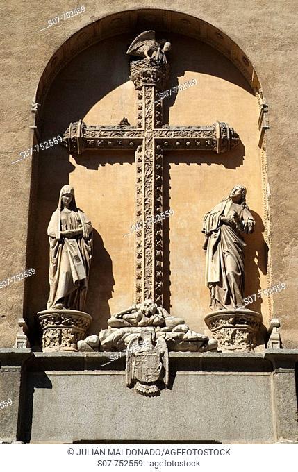 Detail of the Facade of the Monastery of San Juan de los Reyes, Toledo, Castilla La Mancha, Spain
