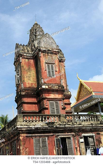 Very Old Buddhist Temple in Phnom Penh