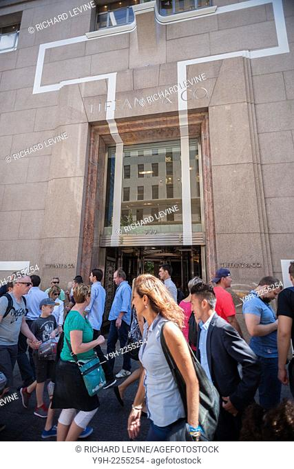 The Tiffany & Co. flagship store on Fifth Avenue in Midtown Manhattan