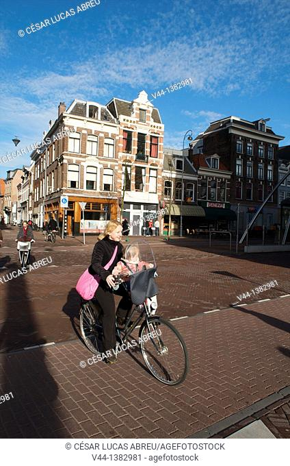 Oudegracht Avenue. Haarlem, Netherlands