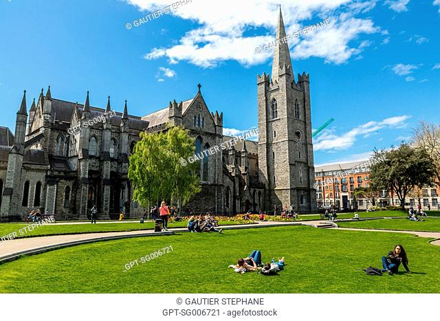 SAINT PATRICK'S CATHEDRAL, ANGLICAN CHURCH, 13TH CENTURY, DUBLIN, IRELAND