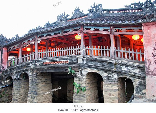Asia, Vietnam, Hoi An, Hoian, Faifo, Hoi An, Old Town, Japanese Covered Bridge, Bridge, Bridges, Night View, Illuminations, UNESCO, UNESCO World Heritage Sites