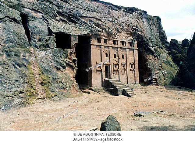 House of the Cross church or Biete Maskal, Lalibela (UNESCO World Heritage List, 1978), Ethiopia, 12th century