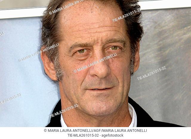The actor Vincent Lindon during the photo call of movie La loi du marche, Rome, ITALY-26-10-205