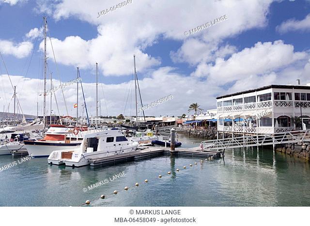 Yacht harbour Marina Rubicon, Playa Blanca, Lanzarote, Canary islands, Spain