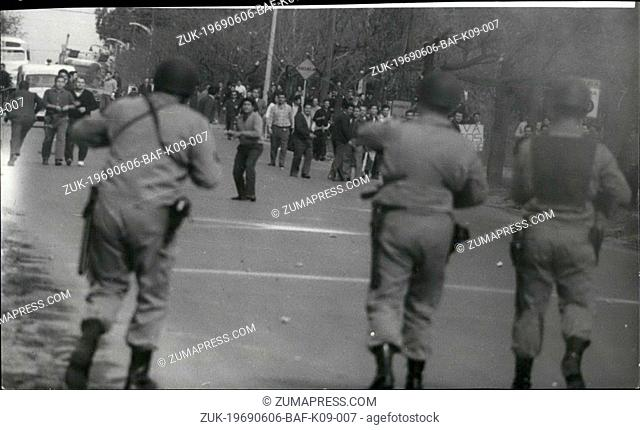 Jun. 06, 1969 - Very Serious Riots In Cordoba And Other Argentine Cities Cordoba: Several demonstrators died and hundreds of arrests were taken by the police...