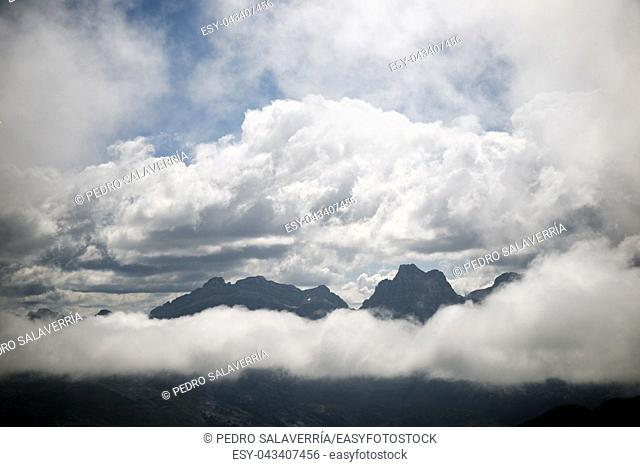 Peaks in Canfranc Valley, Pyrenees, Spain